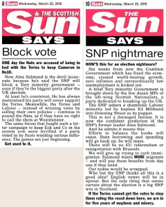 The contrasting coverage from The Scottish Sun & The Sun